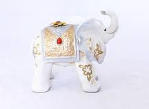 Статуэтка слоника с украшениями, хобот к верху 20 см