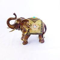 Декоративная статуэтка Слон с поднятым хоботом