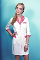 Модельный, белый халат, медицинский, косметолога, массажиста