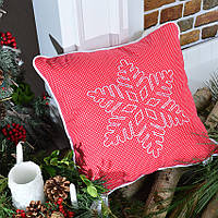 Подушка декоративная Снежинка 45*45