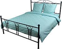 Евро бязевый комплект постельного белья, Блакитний
