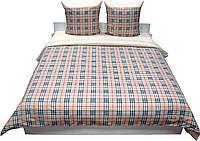 Евро бязевый комплект постельного белья , Шотландка