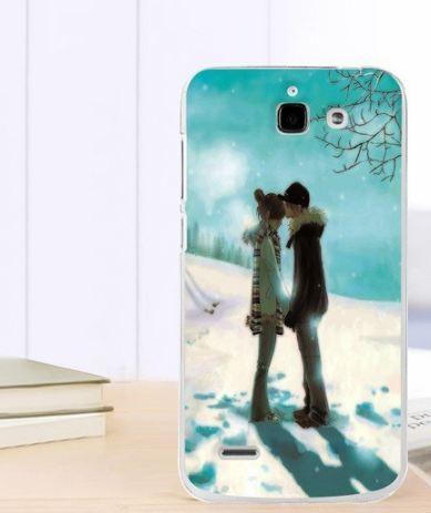 Силиконовый чехол бампер для Huawei Ascend G730 с картинкой Пара