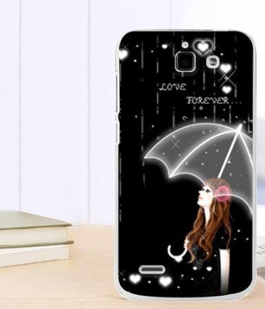 Силиконовый чехол бампер для Huawei Ascend G730 с картинкой Зонт