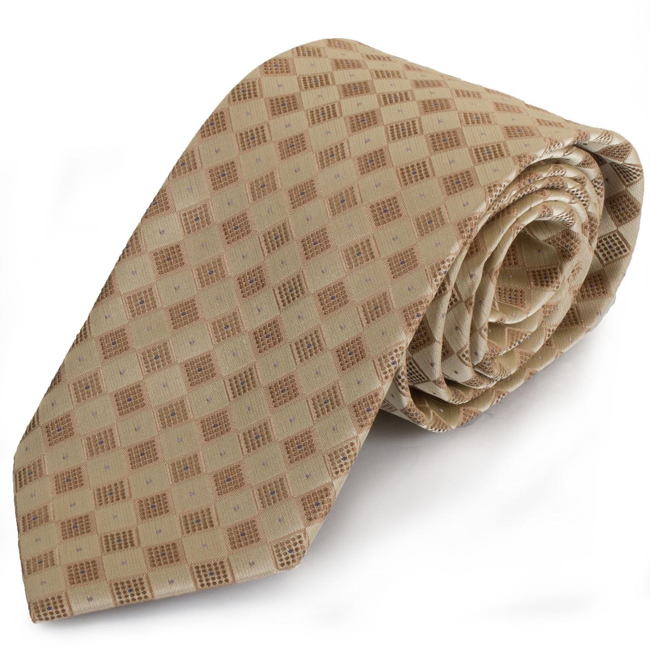 Актуальний чоловічий широкий галстук SCHONAU & HOUCKEN (ШЕНАУ & ХОЙКЕН) FAREPS-31 бежевий