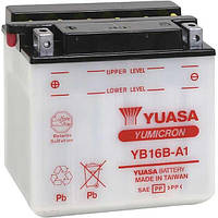 Аккумулятор мотоциклетный 16Ah 207A YUASA YB16B-A1 ,  SUZUKI Intruder (Boulevard) VS 400 / VS 750 / VS 800 GL