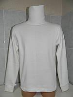 Водолазка белая, рубчик, хлопок, р.86,92-98,104,110-116,122-128