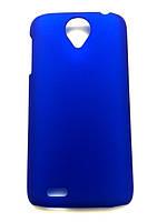 Синий пластиково-прорезиненный чехол для Lenovo S820, фото 1