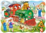 В-03433, Зеленый локомотив, Пазл Castorland 30 эл.