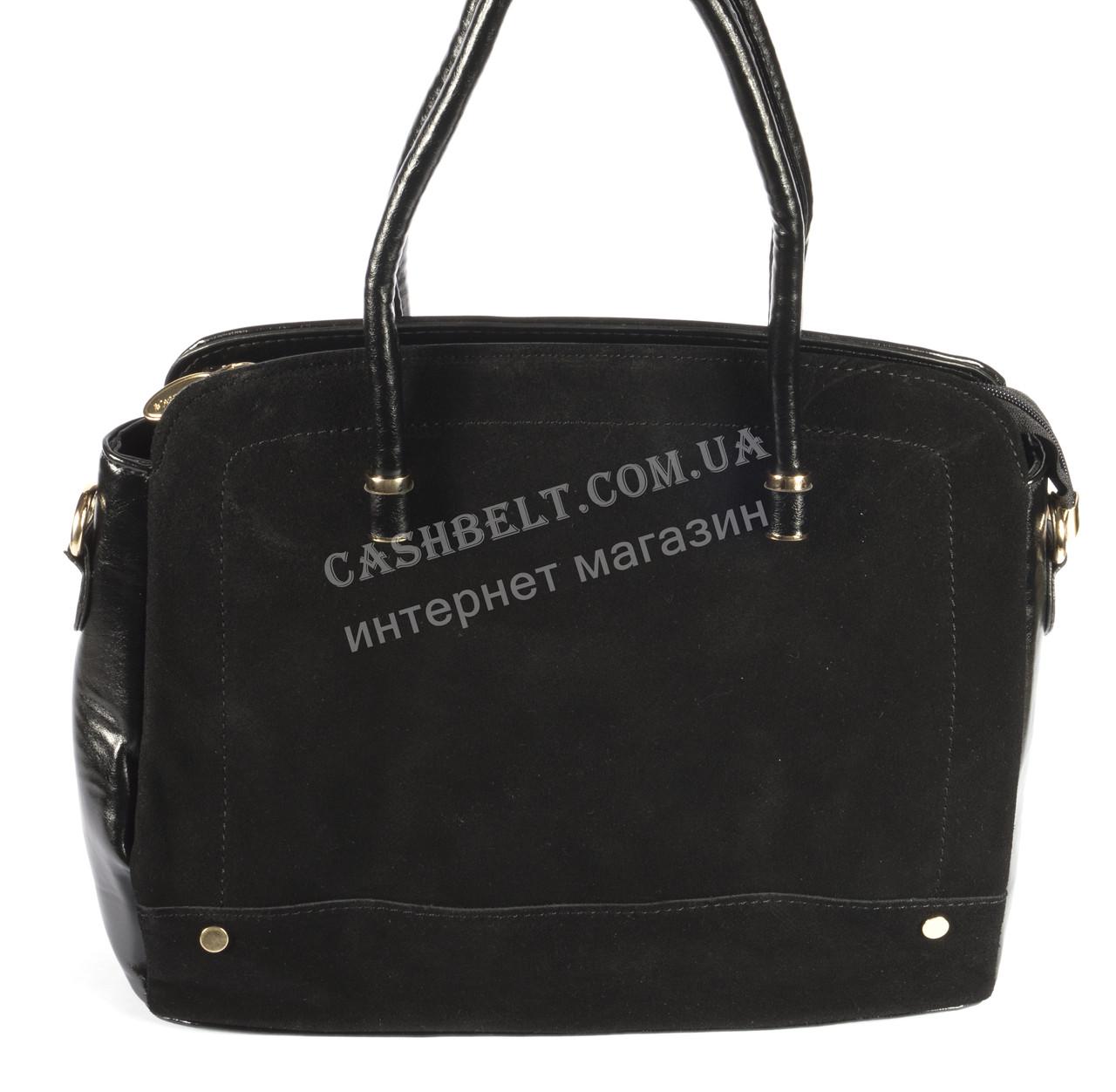 4c6b93da7002 Стильная женская сумка с замшевой лицевой частью SOLANA art. 8346 черный