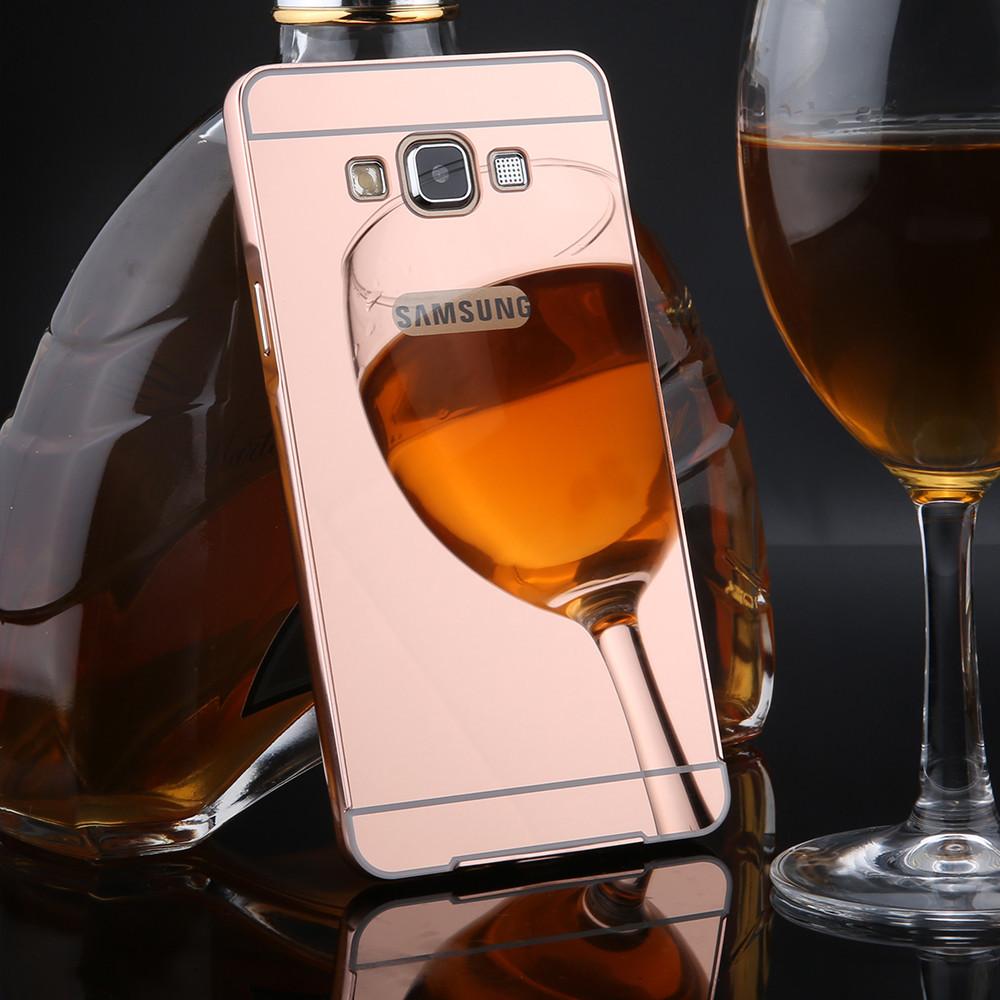 Металлический бампер для Samsung Core Prime G360 G361 с зеркальной панелью