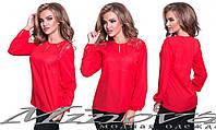Стильная блуза женская с вставками гипюра