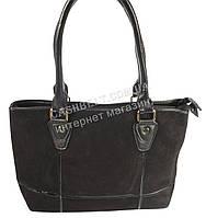 Стильная женская сумка с замшевой лицевой частью art. 1079 черный