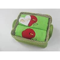 Кухонное полотенце ARYA APPLE 2 шт. (голубое, зеленое)