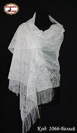 Свадебный шарф Ариана (белый), фото 2