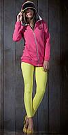 Кофта спортивная женская длинная с начесом