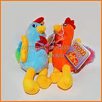 Мягкие игрушки петушки - брелки 16 см