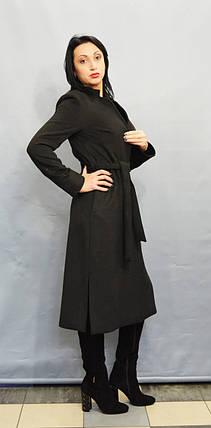 Темно-серое женское пальто ICON 3284, фото 2
