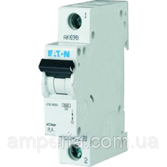 Eaton/Moeller 4kA PL4-C16/1 16А, 1-полюсный автоматический выключатель