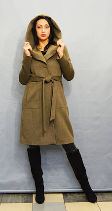 Пальто цвета хаки ICON 60027, фото 2