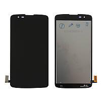 Дисплей для LG K8 K350E + сенсор и рамка черного цвета (high copy)