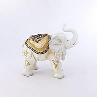 Фигура слона с украшениями, хобот к верху 30см