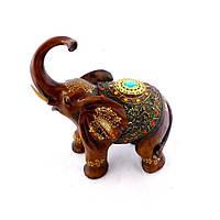 Статуэтка слона с украшениями, хобот к верху 30см
