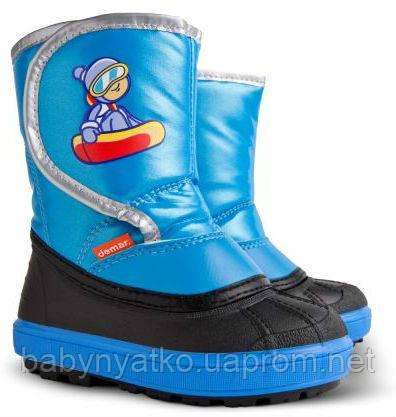 b3b11ff1f Детские зимние сапоги-дутики Demar (Демар) SNOW BOARDER (СНОУ БОРДЕР синий)