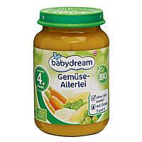 Babydream Bio Gemüse-Allerlei -  Детское пюре Овощное ассорти, с 4 месяца, 190 г
