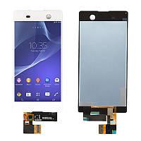 Дисплей для Sony E5603 E5606 E5633 E5653 E5663 Xperia M5 + сенсор белого цвета (high copy)