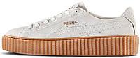 Женские кроссовки Puma Suede Creeper by Rihanna (Пума Рианна) белые