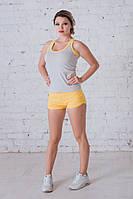 Комплект майка+шорты серый+желтый К-8