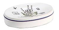 Керамическая мыльница Trento Lavende для ванной комнаты