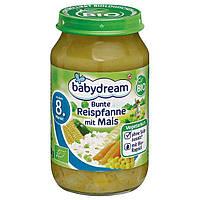 Babydream Bio Menü Bunte Reispfanne mit Mais-Овощное пюре Пестрая рисовая сковорода с кукурузой, с 8 мес. 220г