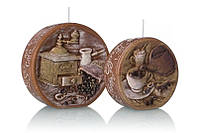 Свеча диск ароматическая кофе 40х95мм. коричневая 1шт.