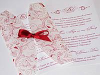 """Приглашение """"Марсала"""" в конверте из кальки"""