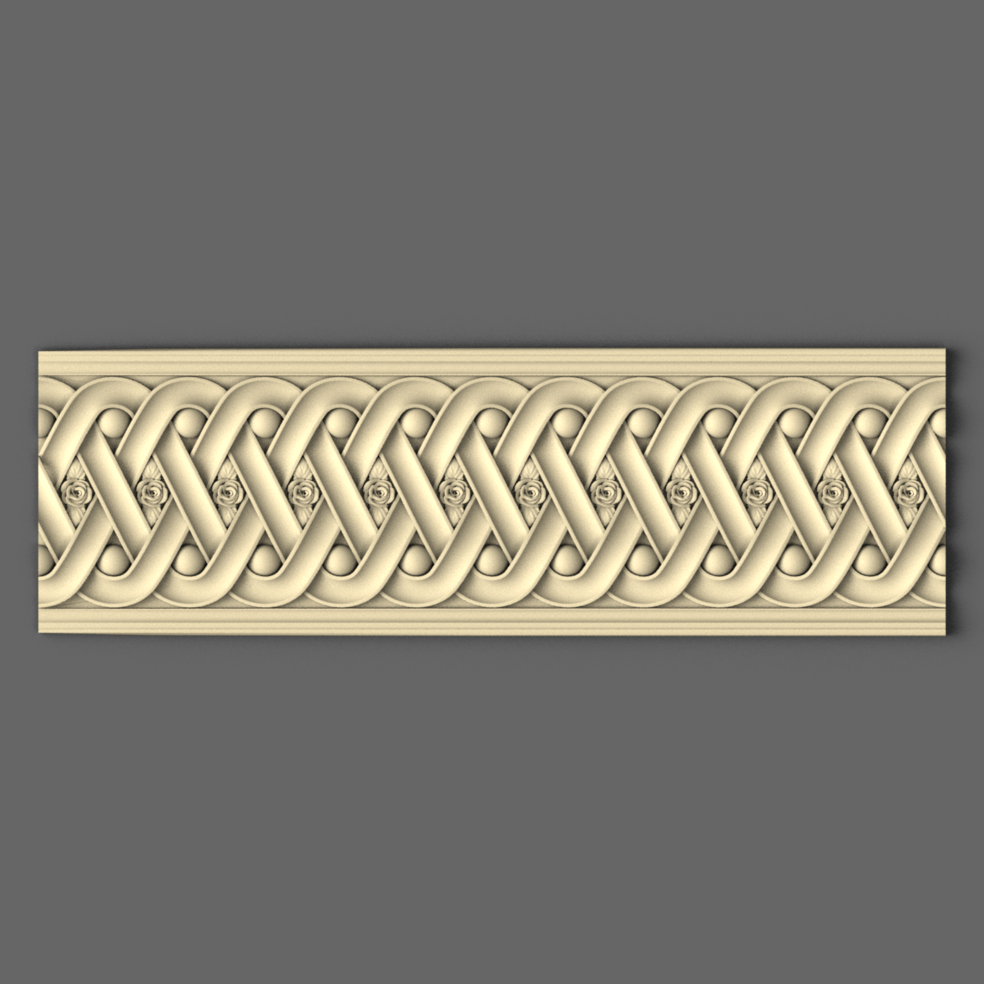 Карниз дерев'яний різьблений 150 мм