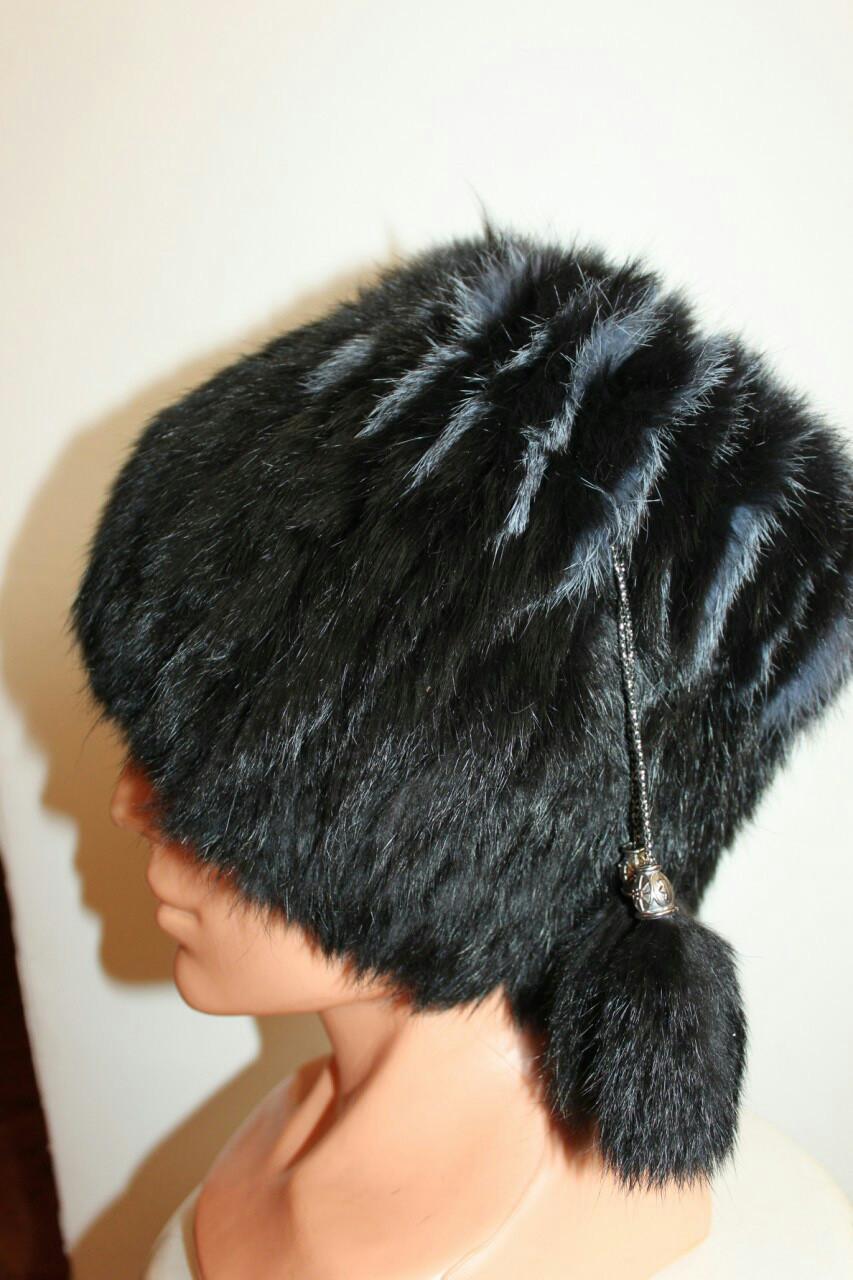 Женская зимняя шапка кубанка кролик