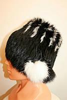 Зимняя женская шапка натуральный мех , фото 1