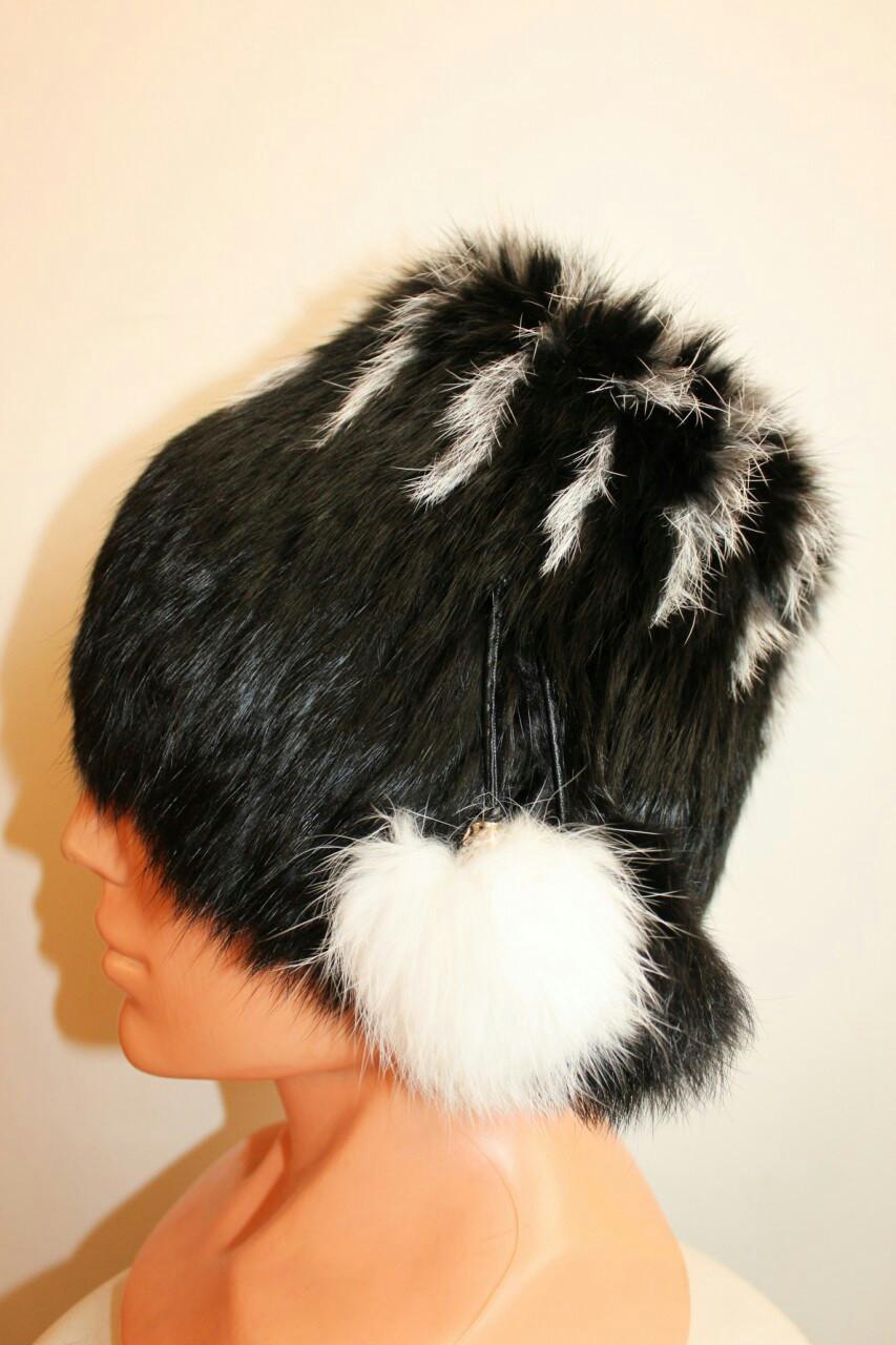 Зимняя женская шапка натуральный мех