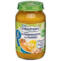 Babydream Bio Menü Schinkennudeln mit Gemüse - Детское пюре Лапша с ветчиной и овощами, с 8 месяца, 220 г