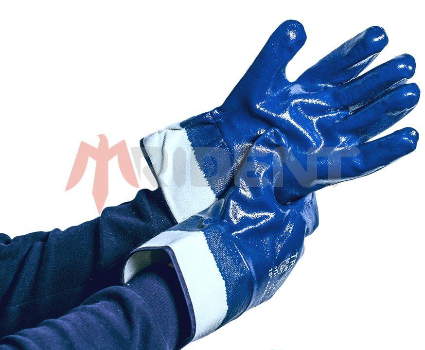 Перчатки-краги с полным нитриловым покрытием TRIDENT