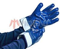 Перчатки-краги с полным нитриловым покрытием