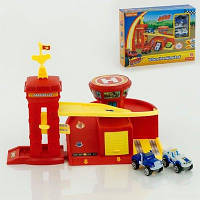 Парковка Вспыш и чудо машинки 828-63-62: 2 вида, гараж 30х25х33 см, 2 машинки
