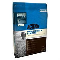 Acana Heritage Cobb Chicken & Greens 17кг Сухой корм для взрослых собак с курицей и зеленью