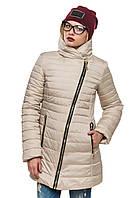 Стеганная зимняя куртка Миледи жемчуг 44-54 размеры