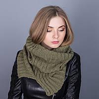 Стильныйснуд (хомут)для девушек крупной вязки из ангорки - Артикул ТХ-2E