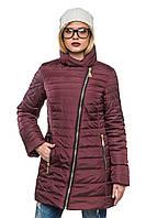 Стильное стеганое зимнее пальто Миледи слива 44-54 размеры
