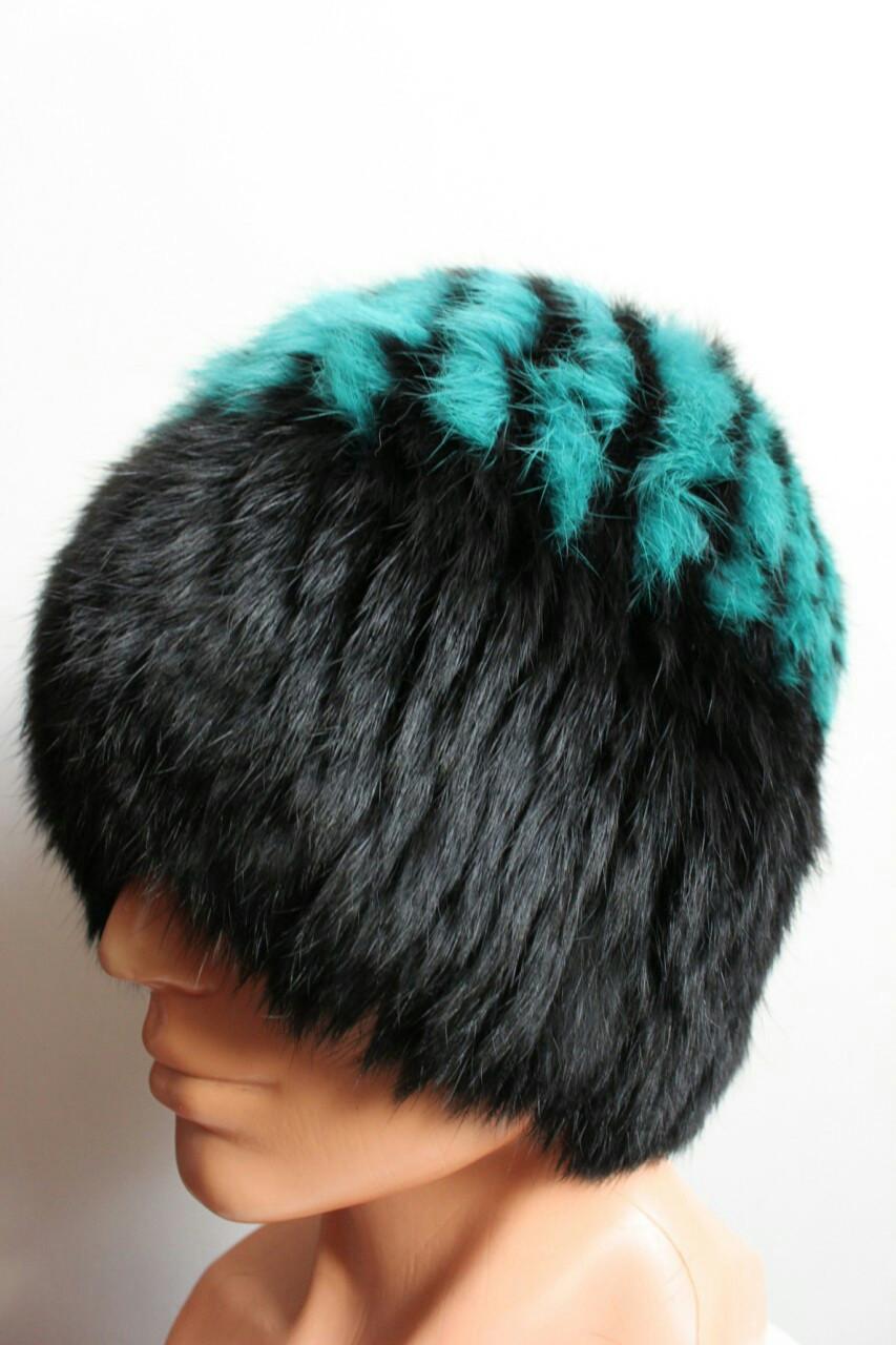 Женская зимняя шапка мех