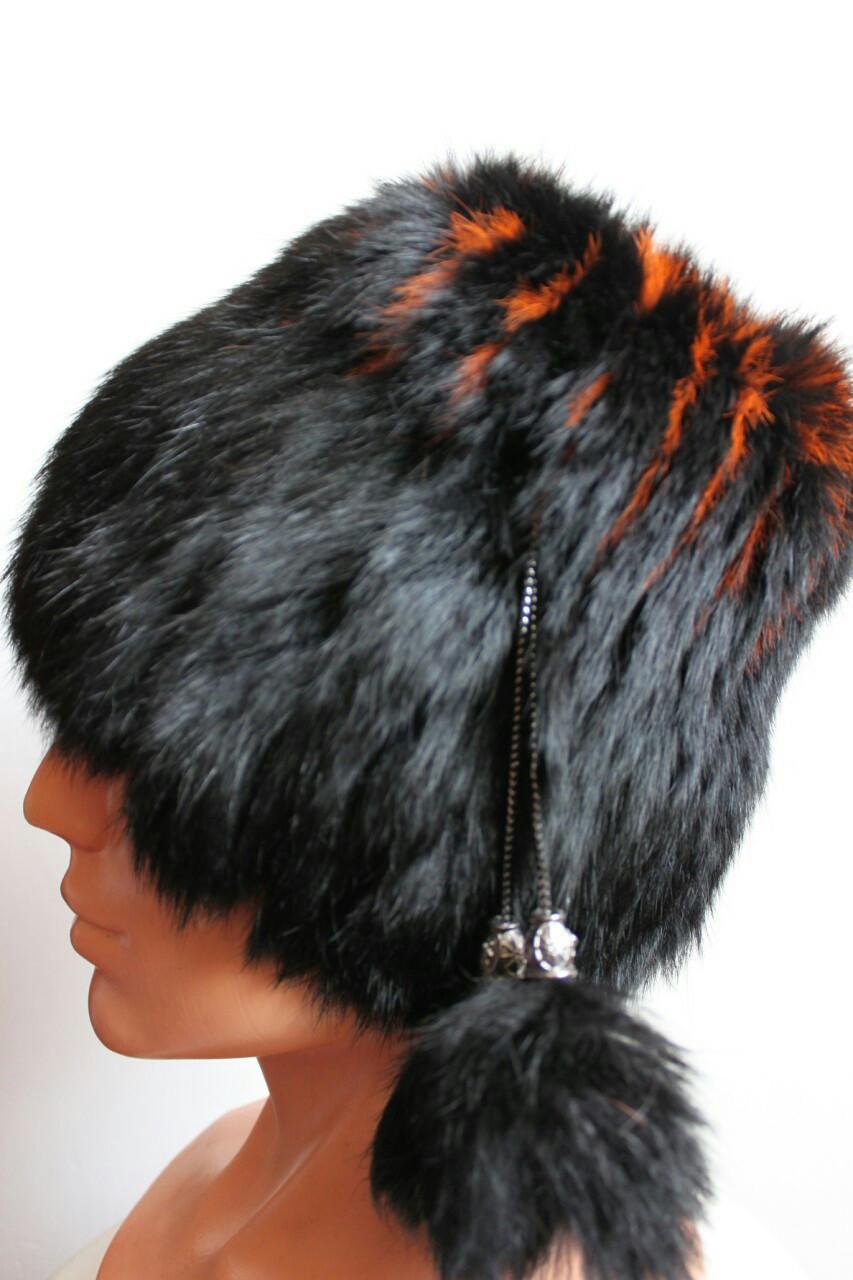 Женская зимняя шапка кубанка (кролик)